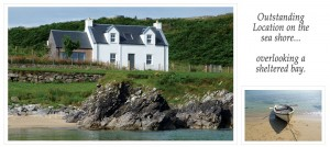 A photo of the cottage from the beach