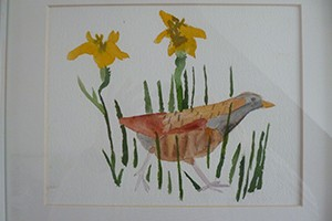 A painting of a Corncrake