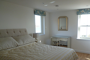 A photo of the master bedroom